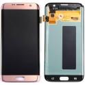 SM-G935F, G935F Display Lcd con Cristal digitalizador SIN marco Original Samsung Galaxy S7 Edge Rosa