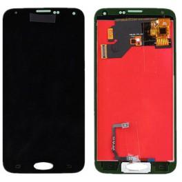 I9600, G900f, G9008v, display lcd y cristal digitalizador con marco COMPATIBLE Samsung S5 Negro