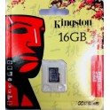 Tarjeta de memoria Micro SD Transflash 16GB kingston con blister